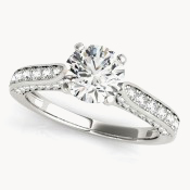 single row engagement rings ohio